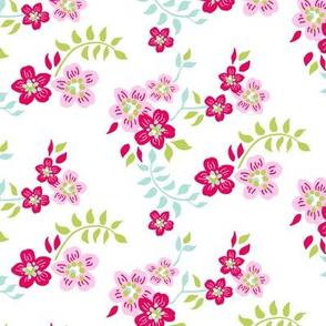 floral sprig white