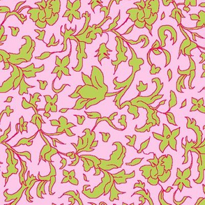 hedgerow pink and green