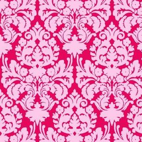 Floral damask pink