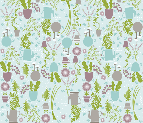 Herb Garden fabric by oliveandruby on Spoonflower - custom fabric
