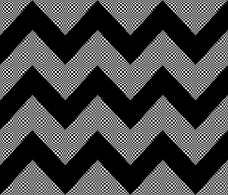 psycho-chevron fabric by mammajamma on Spoonflower - custom fabric