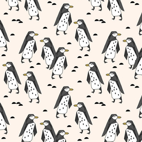 Penguins - Champagne by Andrea Lauren