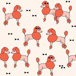 Poodle Pals - Coral/Pale Pink by Andrea Lauren