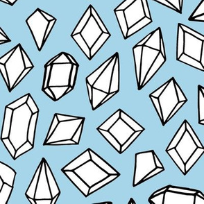 Crystals - White/Sky Blue by Andrea Lauren