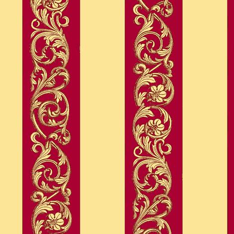 Veranda Red A70032 fabric by amyvail on Spoonflower - custom fabric