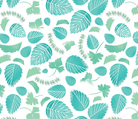 herb garden fabric by annaboo on Spoonflower - custom fabric
