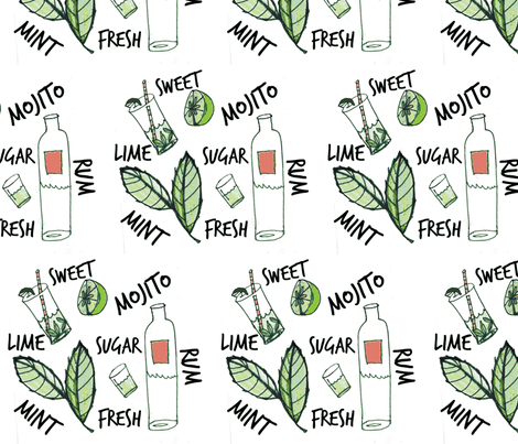 Mojito Mint  fabric by campbelljane on Spoonflower - custom fabric