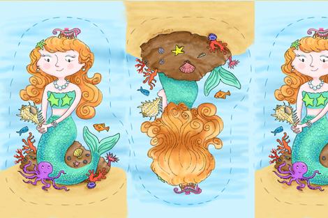 Cut and Sew Mermaid Pillow
