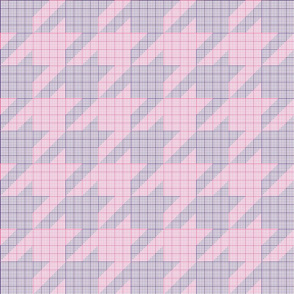 houndstooth graph paper (pink and purple)