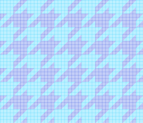 houndstooth graph paper (blues)