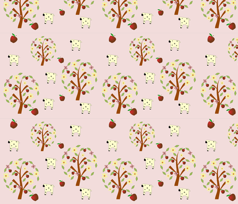 sheep_apple_fabric fabric by chuckleberry_willow on Spoonflower - custom fabric