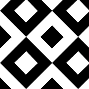 Black and White Diamond Quilt