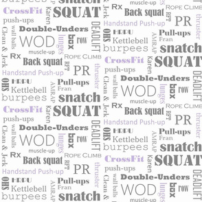 grey and lilac crossfit