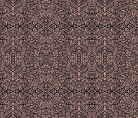My Tribe pink fabric by whimzwhirled on Spoonflower - custom fabric