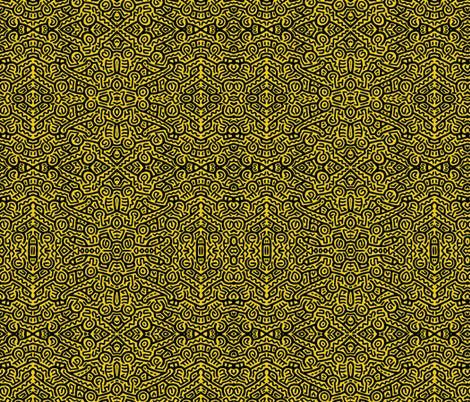 My Tribe mustard fabric by whimzwhirled on Spoonflower - custom fabric