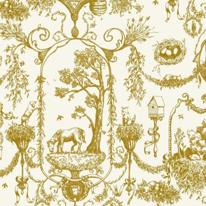 Toile Des Animaux - Gold