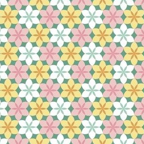 circle 6 arc flower x3 - spring