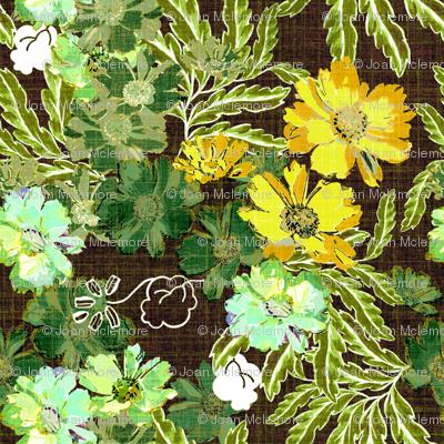 Nostalgic Floral in green