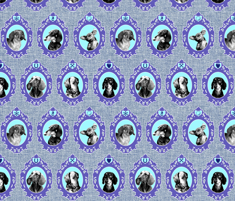 dachshund cameos fabric by jenr8 on Spoonflower - custom fabric