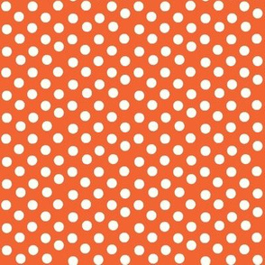Pretty Polka Dots in Tangerine