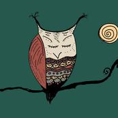 Rustic Owl Pillow Panel