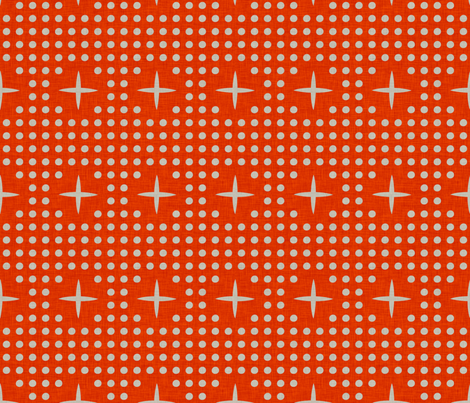 dot_and_plus_orange fabric by holli_zollinger on Spoonflower - custom fabric