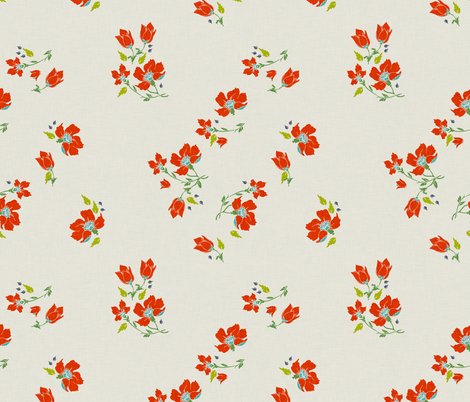 vintage_floral fabric by holli_zollinger on Spoonflower - custom fabric
