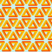 dimensional hazard warning triangle