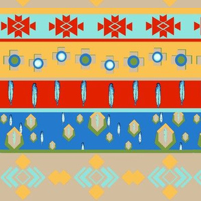 Southwest Aztec Stripes