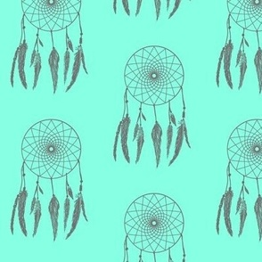 Dream Catcher Mint & Grey