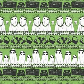 hiphop ghosts on green