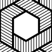 hexagonal zigzag weave