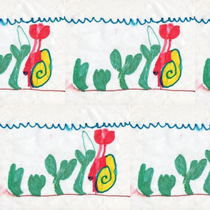 David's drawing of Red Hermit Crab sized for fat quarter and yard