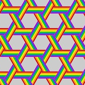ribbon weave - rainbow