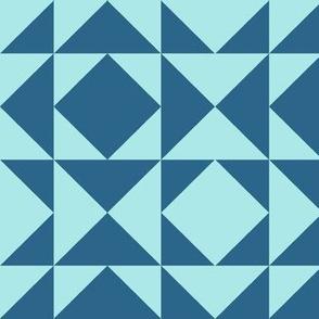 geometric aquamarine Bcn Romb