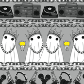 hip hop ghosts #2 on grey