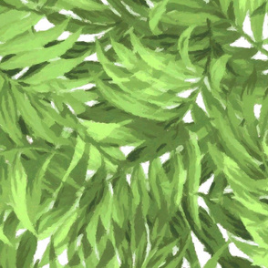 Tropical Leaf Bright Green