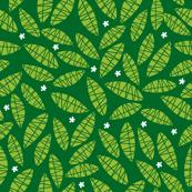 leaves on emerald