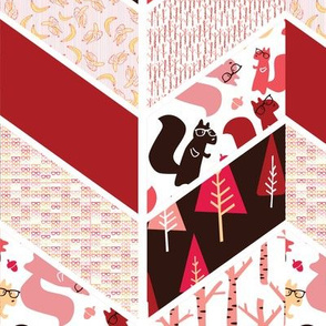 Cheater quilt pink
