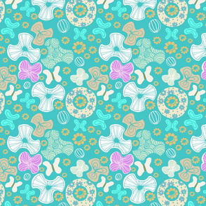 Abstract Florals Turquoise