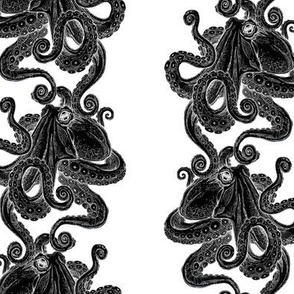 Inverted octopus print