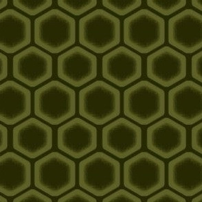 Fading Green Honeycomb