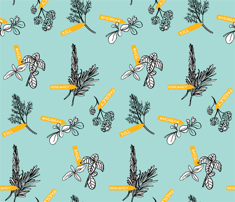 A Sprig Is All It Takes fabric by geraldinekoh on Spoonflower - custom fabric