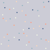 Dotty Dove Grey Peach Blue Cream, Coordinate