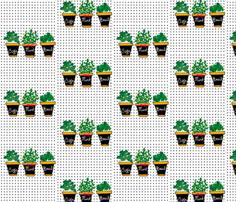 Mini Herb Garden fabric by newearthdesigns on Spoonflower - custom fabric