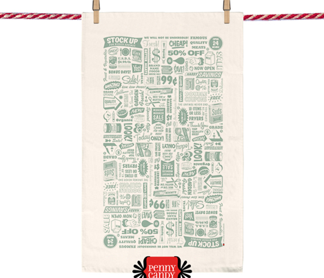 Stock Up! Tea Towel* (Camouflage)