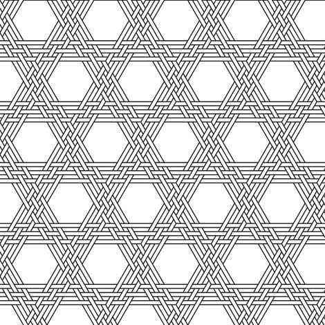 hexagonal triple weave