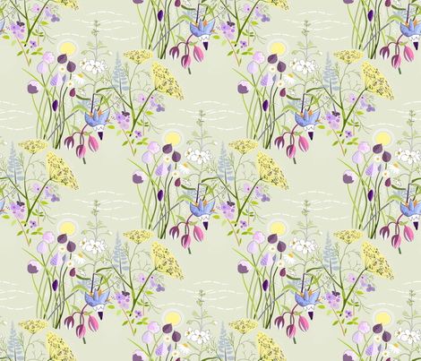 Herb_garden fabric by alfabesi on Spoonflower - custom fabric