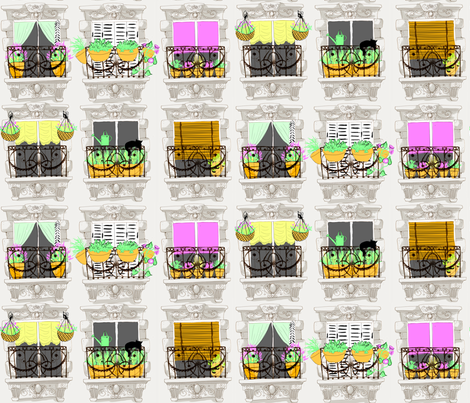 Window Boxes fabric by artytypes on Spoonflower - custom fabric