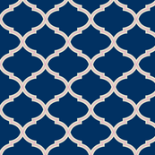 Lily Trellis in Navy and Blush Pink